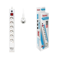 Фильтр сетевой 5 м/3 роз. с USB белый