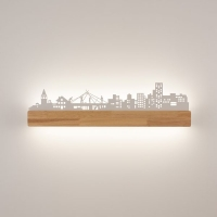 Светильник светодиодный настенный Астерия Город белый 16W 4000K 1440lm Home Light