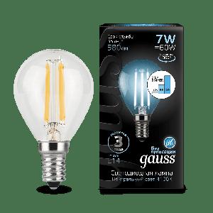 Лампа светодиодная РЕТРО 7W Шар E14 4100К 580lm Gauss