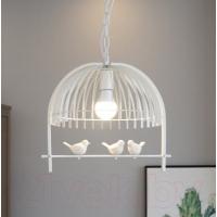 Люстра подвесная Астерия Птицы на ветке белая 1хЕ27 Home Light