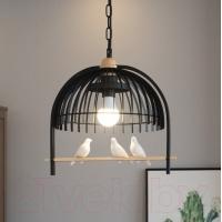 Люстра подвесная Астерия Птицы на ветке черная 1хЕ27 Home Light
