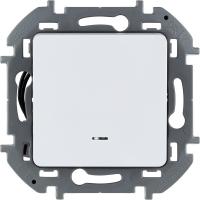 Инспирия (Легранд) Выключатель 1-кл. с подсветкой белый СП (механизм)