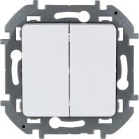 Инспирия (Легранд) Выключатель 2-кл. белый СП (механизм)