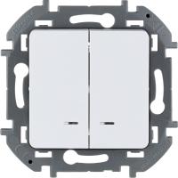 Инспирия (Легранд) Выключатель 2-кл. с подсветкой белый СП (механизм)