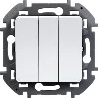 Инспирия (Легранд) Выключатель 3-кл. белый СП (механизм)