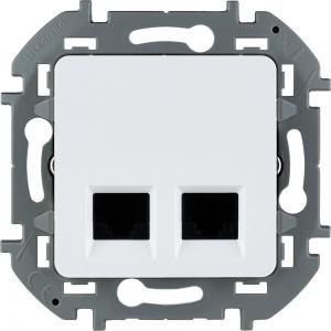 Инспирия (Легранд) Розетка компьютерная 2-м.белый СП (механизм)