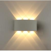 Светильник светодиодный настенный WL12 белый 6x1W 3000K ЭРА