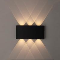 Светильник светодиодный настенный WL12 черный 6x1W 3000K ЭРА